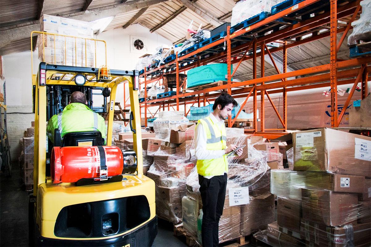 JJX forklift in warehouse
