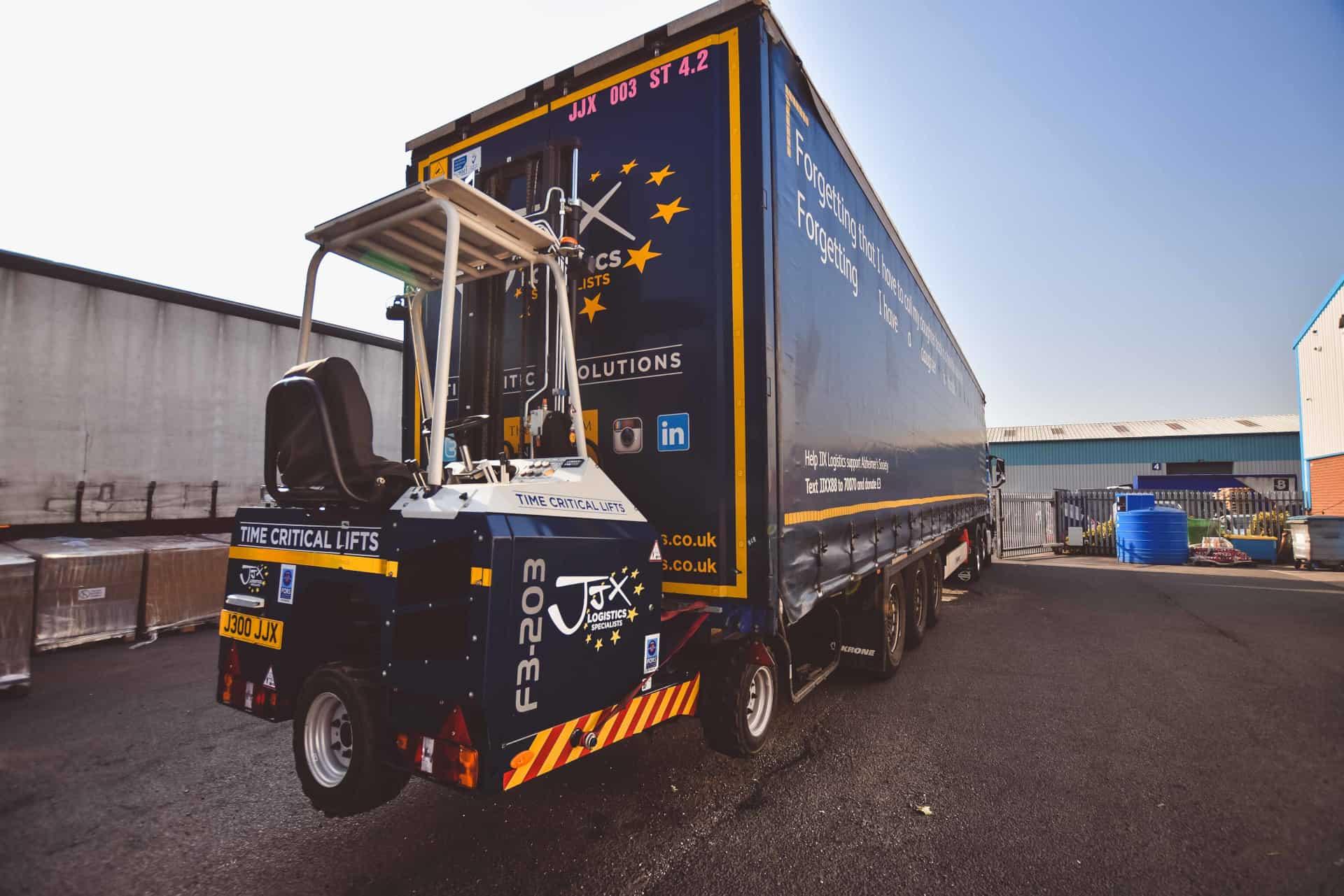 Truck mounted forklift JJX Logistics