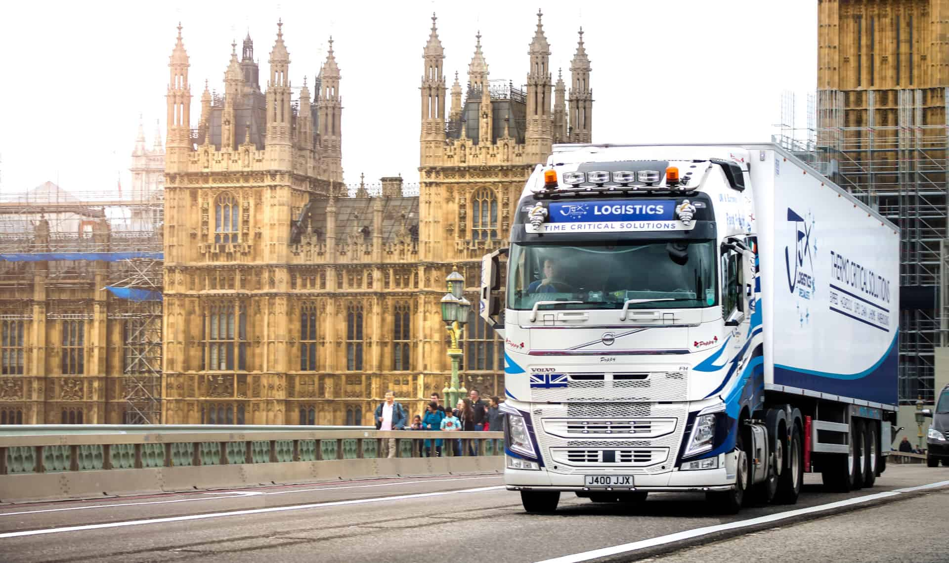 truck at westminster london