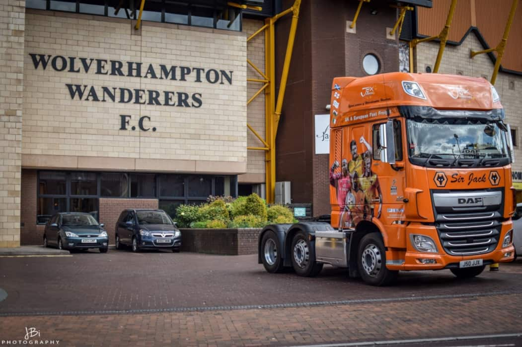 wolves truck at the Molineux