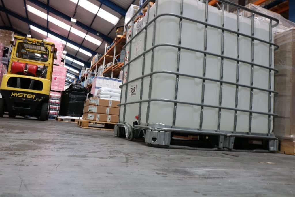 Hazardous goods in warehouse