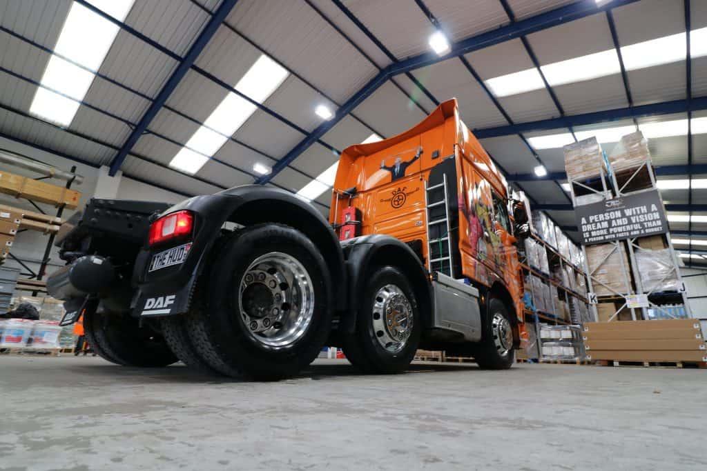 back of 'Sir Jack' DAF truck