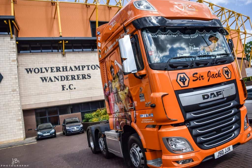 wolves truck outside Molineux